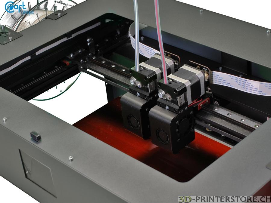 craftbot 3 3d drucker dual extruder the supervisor mit idex system 3d. Black Bedroom Furniture Sets. Home Design Ideas