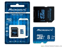 micro SD Card 8GB Class 10 incl. adapter