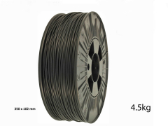 PLA Pro Filament 1.75mm Deep Black 4.5kg